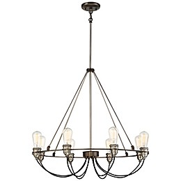 Minka-Lavery® Uptown Edison 8-Light Chandelier in Bronze/Pewter