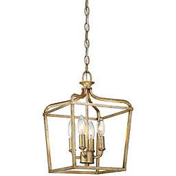 Minka Lavery® Laurel Estate 4-Light Mini Pendant Light in Brio Gold