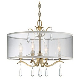 Minka Lavery® Laurel Estate 4-Light Semi-Flush Mount Ceiling Light in Brio Gold