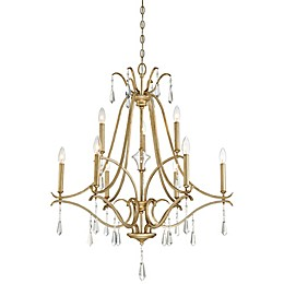 Minka Lavery® Laurel Estate 9-Light Chandelier in Brio Gold