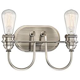 Minka Lavery® Uptown Edison 2-Light Vanity Light in Pewter