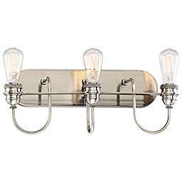 Minka Lavery® Uptown Edison 3-Light Vanity Light in Pewter