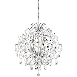 Minka Lavery® Isabella's Crown Flush Mount Ceiling Mini Chandelier in Chrome