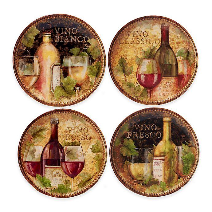 Alternate image 1 for Certified International Gilded Wine Salad Plates (Set of 4)