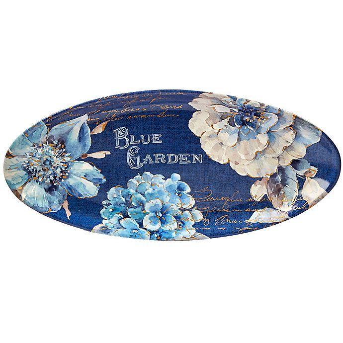 Alternate image 1 for Certified International Indigold Oval Platter in Blue
