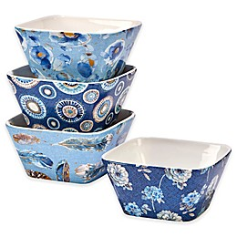 Certified International Indigold Lisa Ice Cream Bowl in Blue (Set of 4)