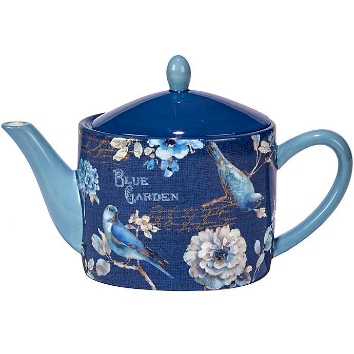 Alternate image 1 for Certified International Indigold  36 oz. Teapot in Blue