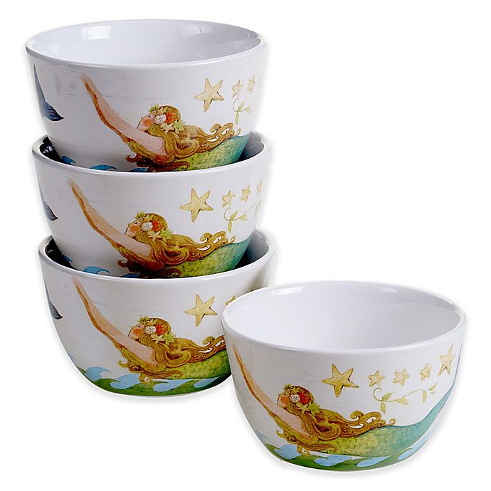 Alternate image 1 for Certified International Sea Beauty by Susan Winget Cereal/Ice Cream Bowls (Set of 4)