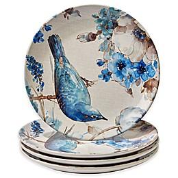 Certified International Indigold Bird Dinner Plates (Set of 4)