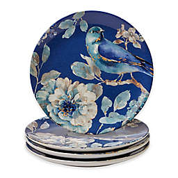 Certified International Indigold Bird Salad Plates (Set of 4)