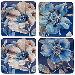 Certified International Indigold Flower Dessert Plates (Set of 4)