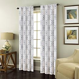 Valencia Rod Pocket Embroidered Window Curtain Panel