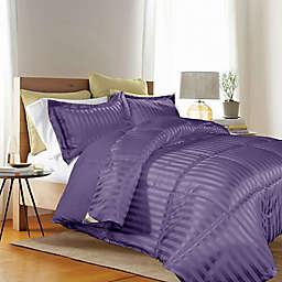 Kathy Ireland® Reversible Down Alternative Twin Comforter Set in Purple