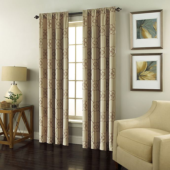 Alternate image 1 for Valencia Rod Pocket Embroidered Window Curtain Panel