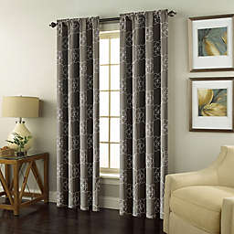 Valencia Rod Pocket Embroidered Window Curtain Panel