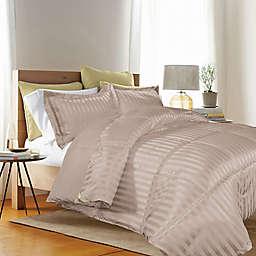 Kathy Ireland® Reversible Down Alternative Twin Comforter Set in Taupe