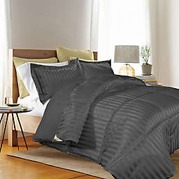 Kathy Ireland® Reversible Down Alternative Twin Comforter Set in Black