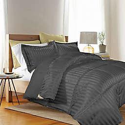 Kathy Ireland® 3-Piece Reversible King Down Alternative Comforter Set in Black