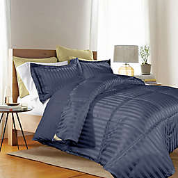 Kathy Ireland® 3-Piece Reversible King Down Alternative Comforter Set in Navy