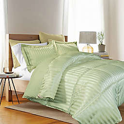 Kathy Ireland® Reversible Down Alternative Full/Queen Comforter Set in Sage