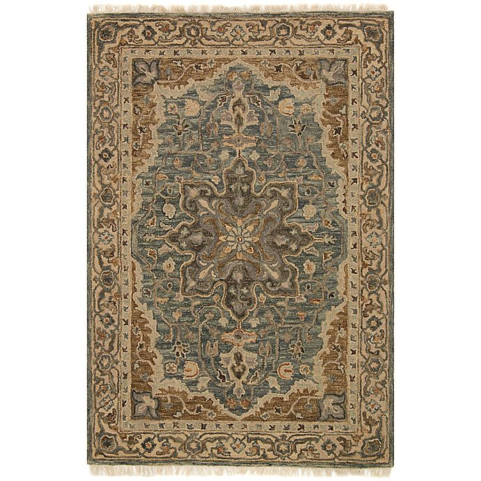 Alternate image 1 for Magnolia Home by Joanna Gaines Hanover 7-Foot 9-Inch x 9-Foot 9-Inch Area Rug in Slate/Beige