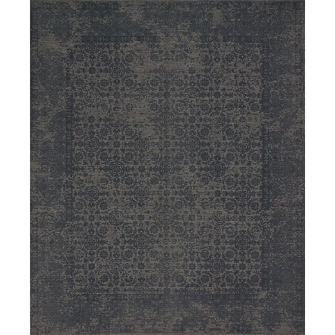 Alternate image 1 for Magnolia Home by Joanna Gaines Lily Park 2-Foot 6-Inch x 7-Foot 6-Inch Runner in Charcoal