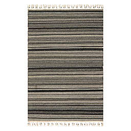 Magnolia Home By Joanna Gaines Mikey Rug in Black/Ivory