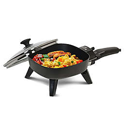 Continental Electric 6.25-Inch Non-Stick Electric Skillet with Glass Lid