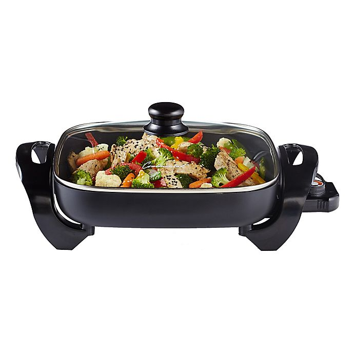 Alternate image 1 for Continental Electrics 12.75-Inch Electric Skillet with Glass Lid