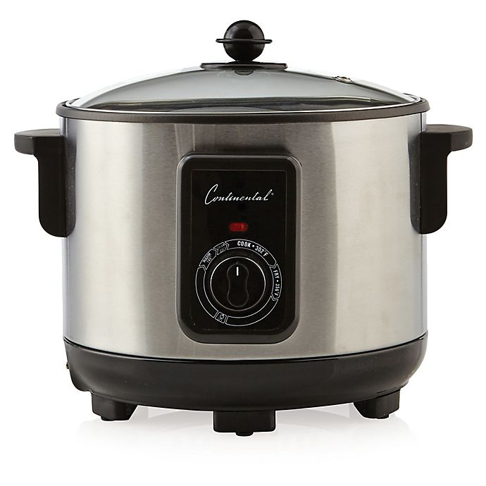 Alternate image 1 for Continental Electric 5-Liter Stainless Steel Deep Fryer