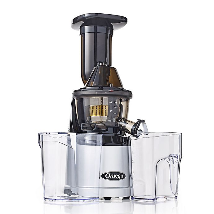 Alternate image 1 for Omega® MegaMouth Low Speed Juicer in Silver
