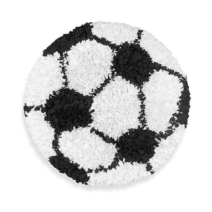 Shaggy Raggy Round Soccer Rug