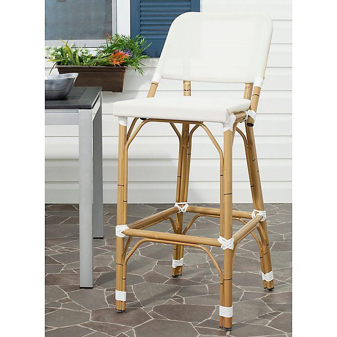 Phenomenal Safavieh Deltana Indoor Outdoor Barstool Bed Bath Beyond Machost Co Dining Chair Design Ideas Machostcouk
