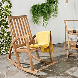 Safavieh Clayton Acacia Wood Rocking Chair