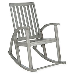 Safavieh Clayton Acacia Wood Rocking Chair