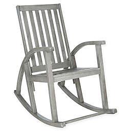 Safavieh Clayton Acacia Wood Rocking Chair in Grey Wash
