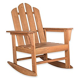 Safavieh Moreno Rocking Chair in Teak Brown