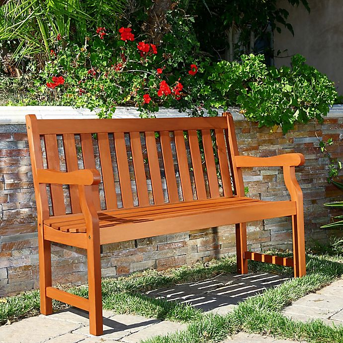Alternate image 1 for Vifah Harley All Weather Bench in Natural Wood