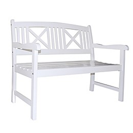 Vifah Bradley All Weather Bench in White