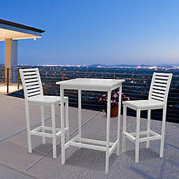 Vifah Bradley 3-Piece Bar Table Set in White