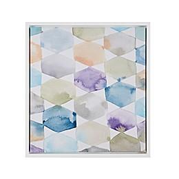 Intelligent Design Multicolor Geometrics 22-Inch x 24-Inch Framed Canvas Wall Art