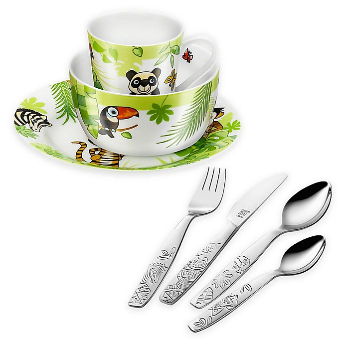 Alternate image 1 for Zwilling J.A. Henckels TWIN Kids' Jungle Dinnerware Collection