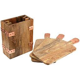 Thirstystone®  4-Piece Mango Wood Serving Board Set