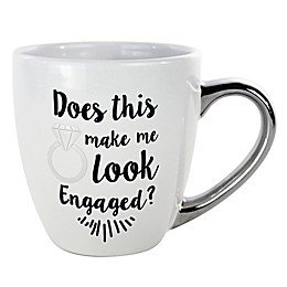 """""""Does This Mug Make Me Look Engaged"""" Ring Mug in White"""