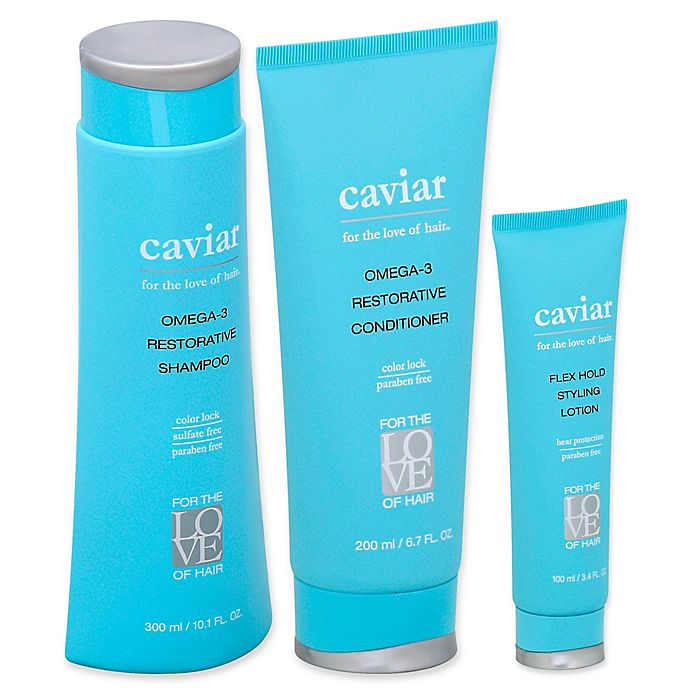 Alternate image 1 for For the Love of Hair Omega-3 Restorative Caviar Collection