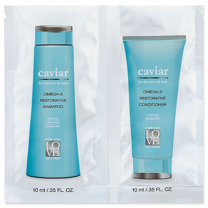 Alternate image 1 for For the Love of Hair Omega-3 Restorative Caviar .35 oz. Shampoo/Conditioner Packet