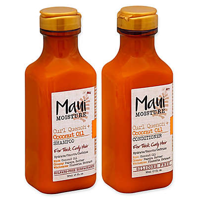 Maui Moisture Curl Quench + Coconut Oil Collection for Thick Curly Hair