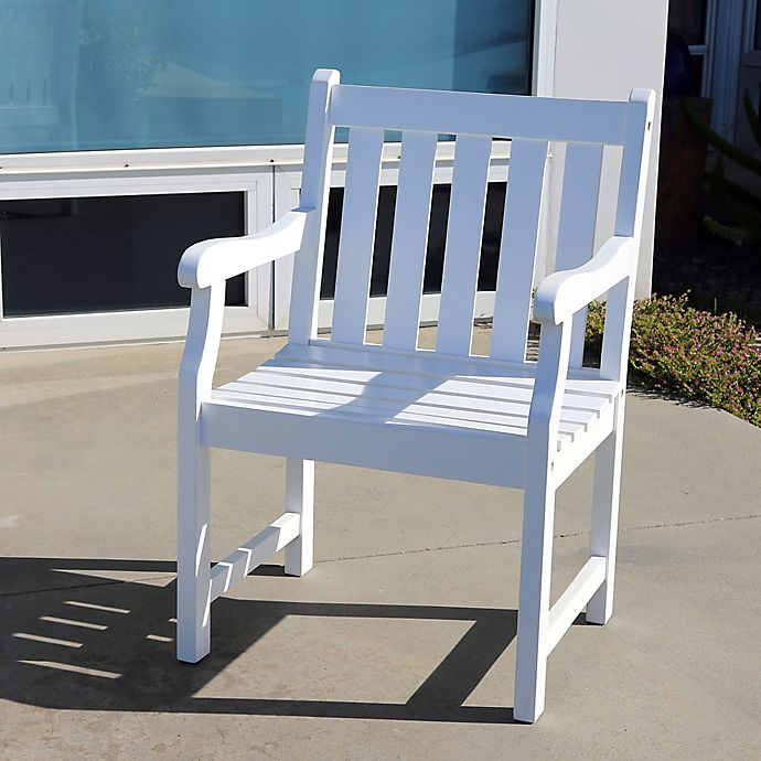 Alternate image 1 for Vifah Bradley Outdoor Garden Chair in White