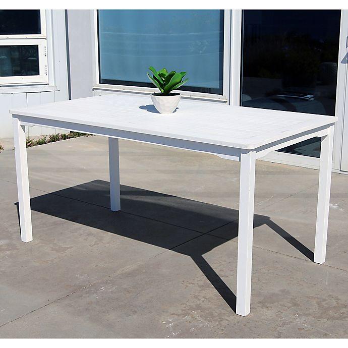 Alternate image 1 for Vifah Bradley Rectangular Outdoor Dining Table in White