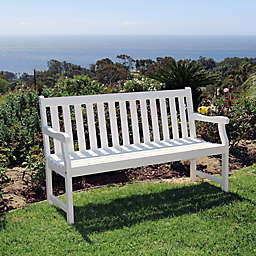 Vifah Bradley Outdoor Garden Bench in White